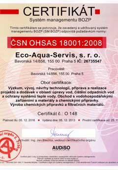 CERTIFIKÁT EMS ČSN EN ISO 14001 2005