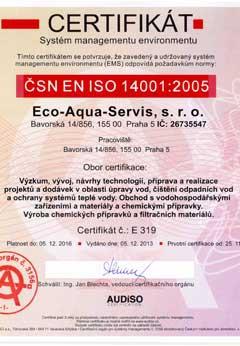 CERTIFIKÁT QMS ČSN EN ISO 90001 2009