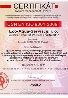 CERTIFIKÁT SMBOZP ČSN OHSAS 18001 2008